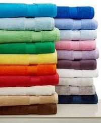 Colored Cotton Bath Towels