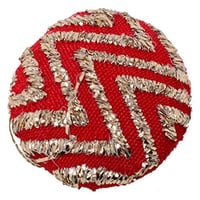 Fabric and Metal Embroidery Round Buttons