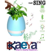 Smart LED Wireless Bluetooth Speaker Music Flower Pot [Touch Plant Can Sing Song]