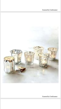 Silver Finish Glass Votive