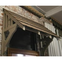 Tunnel Shape Wooden Window Awning