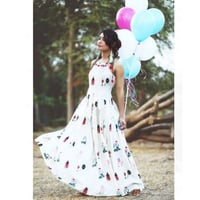 Long Cotton Printed Gown