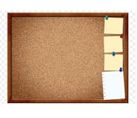 Cork Pin Up Notice Boards