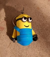 Quilling Keychain for Minion Lover