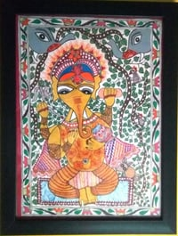 Hand Painted Mithila Painting