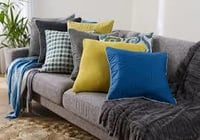 Colorful Printed Couch Cushion