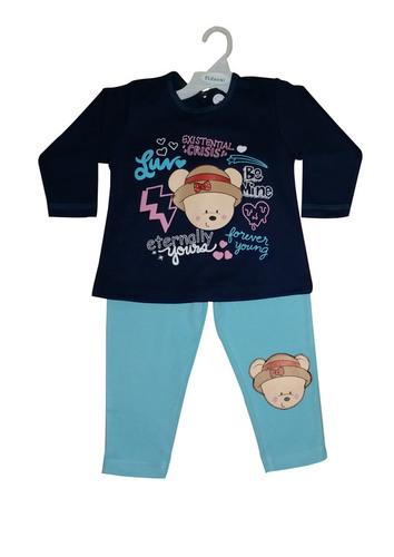 Girl Kid Night Dress - Blue And Navy