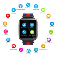 OPTA SW-006 LCD Display Bluetooth Touchscreen Smart Watch Compatible with Android and iOS