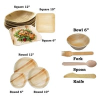 Areca Palm Leaf Disposable Plates