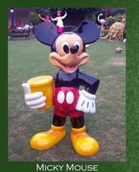 Playground Mickey Mouse Sculpture