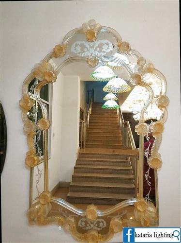 Classic European Art Glass Venetian Mirror (YHJ9004)