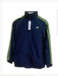Adidas Jacket Blue With Green