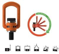 Side Pull Flat Point Hoist Ring