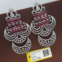 Attractive Diamond Red Earrings