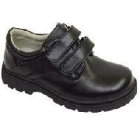 Black Kids Leather Shoes