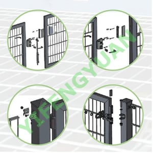 Hot Dip Galvanized Two-wing Gate