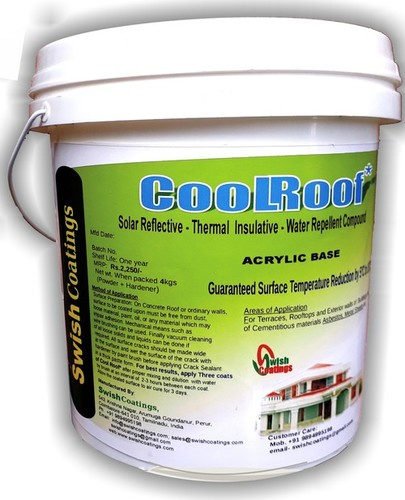 White Cool Roof Roof Care Coating
