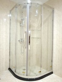 Gold Color Frame Shower Cabinet