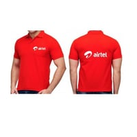 Red Color Corporate T Shirts