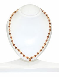 4 MM Rudraksha Beaded Gold Tone Chain