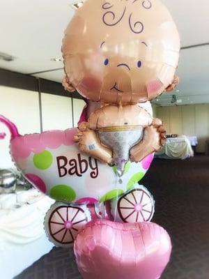 Baby Shower Balloons Bump Props