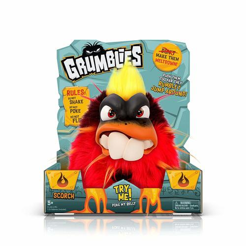 Pomsies Grumblies Scorch Plush Interactive Toy