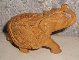 Highly Attractive Wooden Elephant