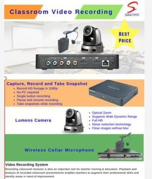 Video Camera for Classroom-Lecture Capture & Event Recording (Saatvik)
