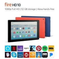 "Amazon Fire HD 10 Tablet With Alexa Handsfree, 10.1"" 1080P Full Hd Display, 64 Gb, Black - With Special Offers"