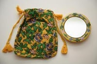 Round Mini Mirror With Pouch