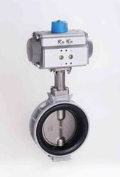 Spherical Disc Valves with Pneumatic Actuator