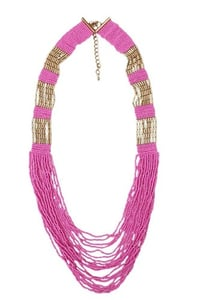 Metal And Beads Necklace