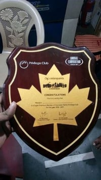 Wooden Plaque Shaped Trophy