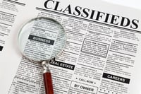 Newspaper Classified Advertising Service