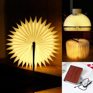 LED Wooden Rechargeable Book Lamp