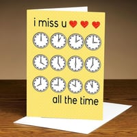 Miss You At All Times - I Miss You Card