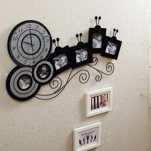 Promotional Wall Clocks with Photo Frames