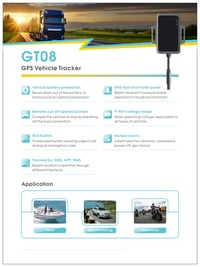 GT08 GPS Tracking System For Vehicle
