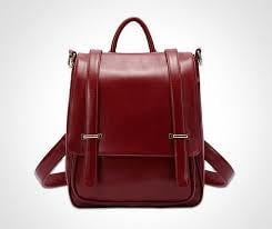 Ladies Leather Backpack Purse