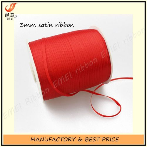 3mm Double Sides Polyester Satin Ribbon