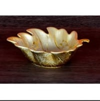 Leaf Shaped Glass Bowl
