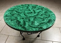 Marble Table Top Malachite Random Inlay Gems Stone