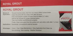 Royal Brand Polymer Grout