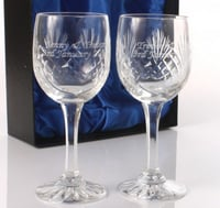 Clear Engraved Crystal Glass