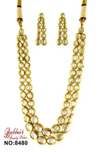 Kundan Necklace Set with Matching Earring