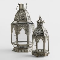 Silver Candle Lanterns