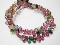 Multi Tourmaline Faceted Pears Brioletes
