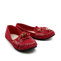 Red Girls Loafer Shoes