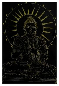 Attractive Look Buddha Glass Painting