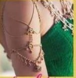 Gold Beautiful Armlet For Ladies